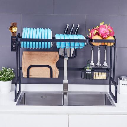不锈钢水槽沥水架洗碗池放碗架厨房置物架水池碗筷架子碗碟收纳架