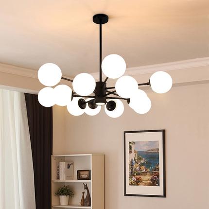 简约现代2020年新款客厅灯北欧创意餐厅吊灯饰魔豆分子灯具卧室灯