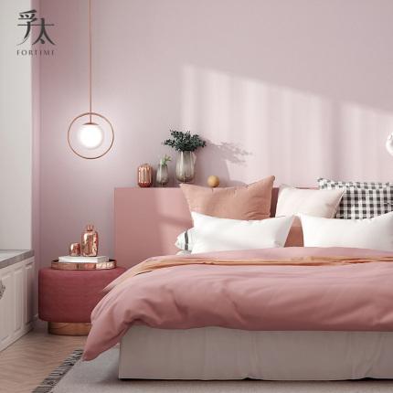 孚太现代简约卧室无缝高级灰墙布网红全屋纯色客厅电视背景墙壁布